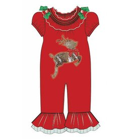 Bonnie Jean Red Reindeer Jumper