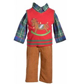 Matt's Scooter Rocking Horse Sweater 2 Piece Set