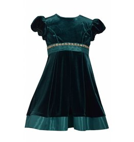 Bonnie Jean Emerald Green Velvet Dress