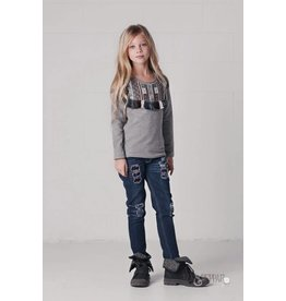 Jak & Peppar Heather Grey Saffron Top
