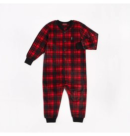 Petit Lem Cozy Cabin Plaid One Piece