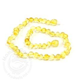 Momma Goose Baroque Lemon Amber Teething Necklace