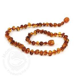 Momma Goose Baroque Cognac Amber Teething Necklace