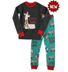Lazy One Llama Kid's Pajama Set