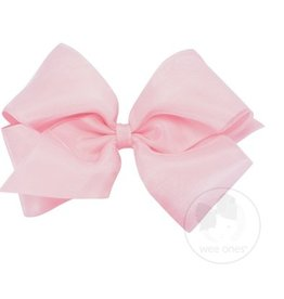Wee Ones Light Pink King Organza Bow
