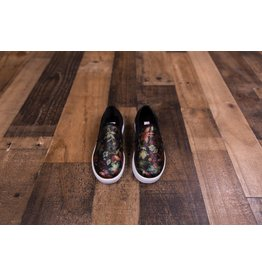 KensieGirl Black Floral Canvas Shoe