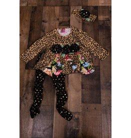 gurlybird Floral Leopard Print 3 Piece Set