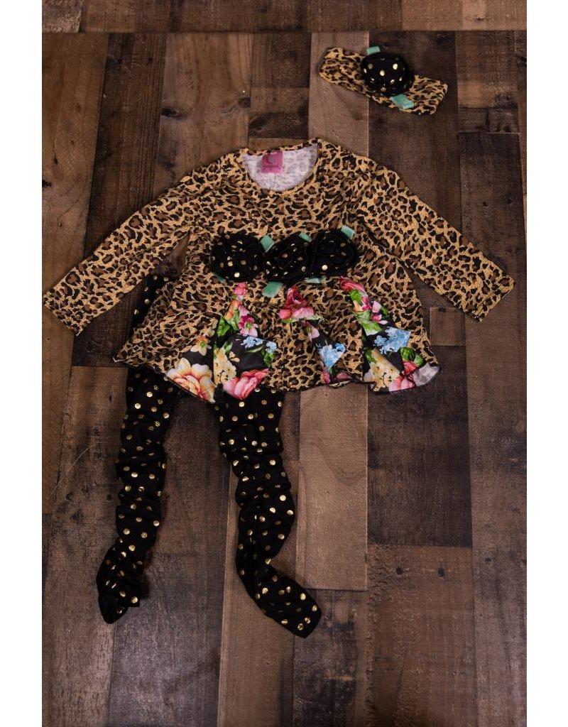 3d6a2b3d1eee Floral Leopard Print 3 Piece Set - Peek-a-Bootique