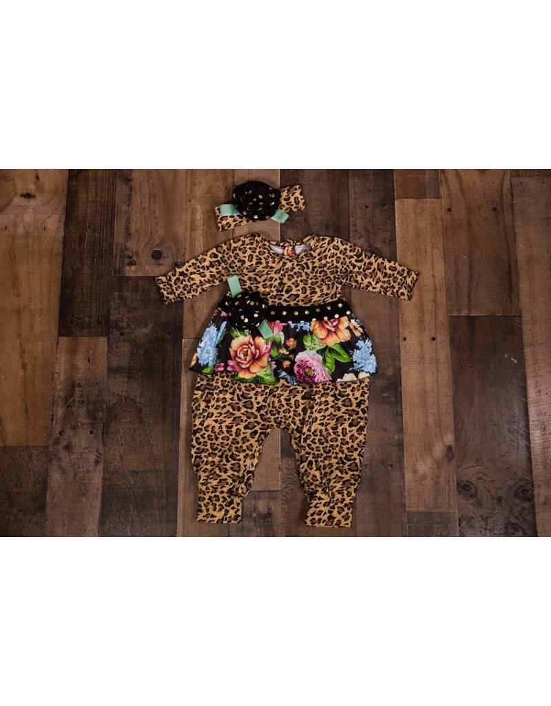 df9d85169b6d Floral Leopard Print Romper - Peek-a-Bootique