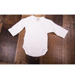 Kushies Classic White Button Wrap Onesie PREEMIE