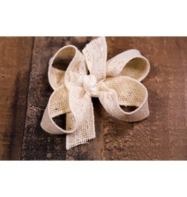 Beyond Creations Burlap Lace Bow