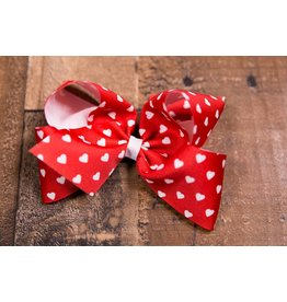 Wee Ones King Valentine Print GG Bow Red