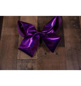 My Little Lady Bug Jumbo Metallic Purple Bow