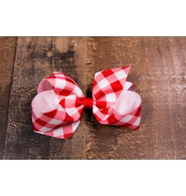 Wee Ones Medium Red Checkered Bow