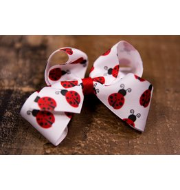 Wee Ones Medium Ladybug Print Bow