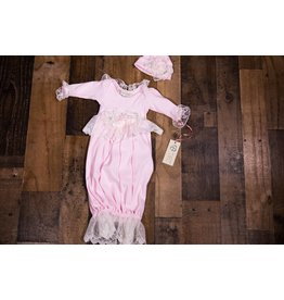 NICK AND NELLIE Pink Serena Gown with Headband