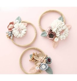 Nylon Fancy Floral and Pearl Headband
