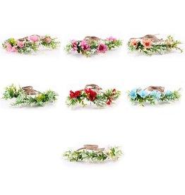 Flower Crown Burlap Tieback