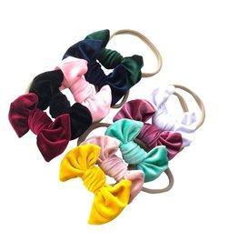Velvet Knot Bow Nylon Headband