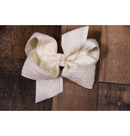 Beyond Creations Ivory Lace Bow