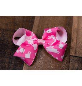 Wee Ones Medium Pink Bunny Bow