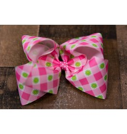 Wee Ones King Plaid Flower Bow