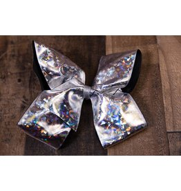 My Little Lady Bug Jumbo Metallic Silver Bow