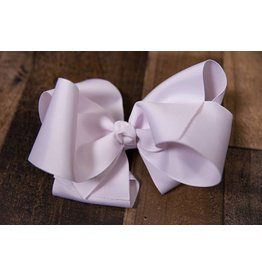 My Little Lady Bug White Large Bow