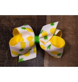 Wee Ones Medium Grosgrain Pineapple Overlay Bow