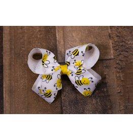 Wee Ones Medium Bumble Bee Print Bow