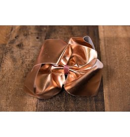 My Little Lady Bug Jumbo Metallic Rose Gold Bow