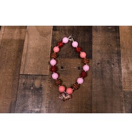 Red And Pink Heart Chunky Necklace