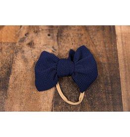 Stevie J's Chandler Nylon Solid Headwrap Navy