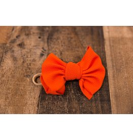 Stevie J's Chandler Nylon Solid Headwrap Orange