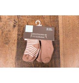 Terry Socks - Mocha Stripe/Solid