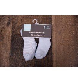 Terry Socks - Blue Stripe/Solid