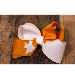 Beyond Creations Ginger and White TX Bow
