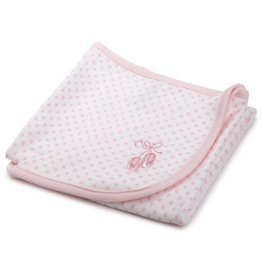 Little Me Pink Ballet Slippers Blanket