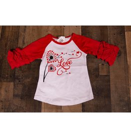 Love Wish Ruffle Raglan