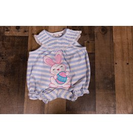Rare Editions Striped Periwinkle Bunny Bubble