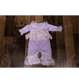 NICK AND NELLIE Morgan Romper & Head band - Lillac