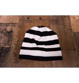 Tesa Babe Ivory & Black Striped Beanie