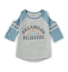 Jessica Simpson Dreamers are Believers Cold Shoulder Shirt