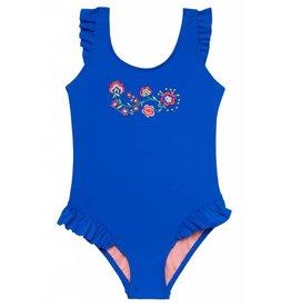 Hula Star Royal Blue Ruffle Swimsuit