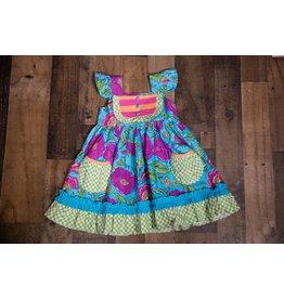 Sage & Lilly Emily Bib Dress - Turquoise Jewel