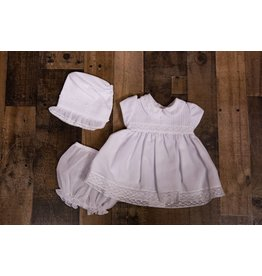 Will'beth White 3pc Dress with Bonnet
