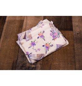 Tan Floral Tee Pee Car Seat & Handle Cover