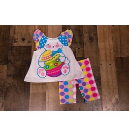 Rare Editions Easter Bunny 2pc Polka Dot Set