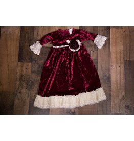 Frilly Frocks Victoria Velvet Gown 0-3m