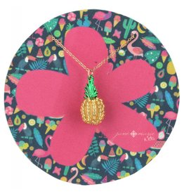 "Jane Marie 14"" Beaded Pineapple Necklace"